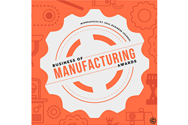 Homenajeado en Business of Manufacturing 2019 logo