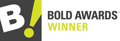 Ganador del premio BOLD 2020 logo